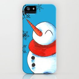 Snowmen and Snowflakes iPhone Case