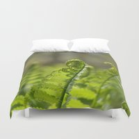 plant Duvet Covers featuring Green Plant by Pure Nature Photos