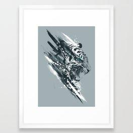 white tigra Framed Art Print