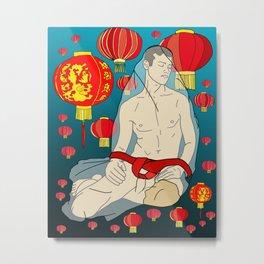 Red Lanterns Metal Print