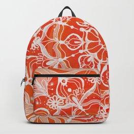 Red-orange mandala Backpack