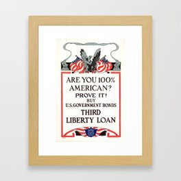 Are you 100% American Framed Art Print