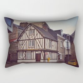 Post and Beam House in Dieppe Rectangular Pillow
