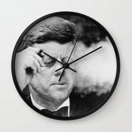 JFK Smoking Wall Clock