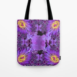 EXOTIC AMETHYST FEBRUARY  FLORAL FANTASY  ABSTRACT Tote Bag