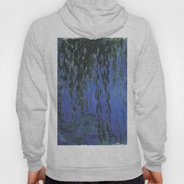 Water Lilies and Weeping Willow Branches by Claude Monet Hoody