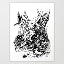 the things we covet will tie us down Art Print