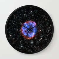 nasa Wall Clocks featuring NASA Chandra X Ray Observatory by Artlala for MSF Doctors Without Borders