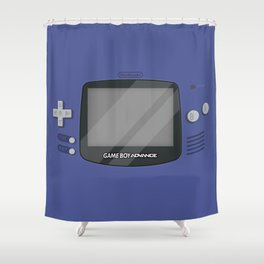 Gameboy Advance - Indigo Shower Curtain