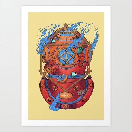 Diving dress Art Print