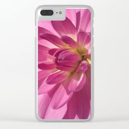 Dahlia Rose Clear iPhone Case