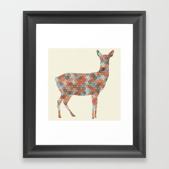Autumn Doe Framed Art Print