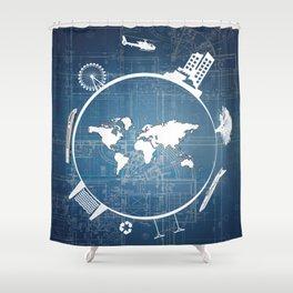 Global Engineering Shower Curtain