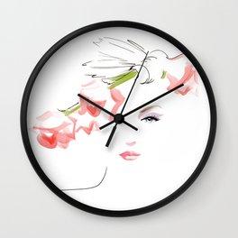 fashion girl portrait Wall Clock