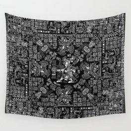 Mayan Spring B&W II Wall Tapestry