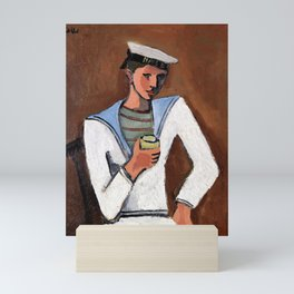 12,000pixel-500dpi - Helmut Kolle - Young man in sailor clothes - Digital Remastered Edition Mini Art Print
