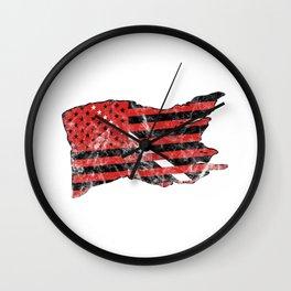 America 4th Of July Liberty Freedom Gift USA Flag American Wall Clock