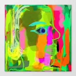 Tecno Girl Canvas Print