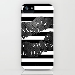 Metallic Kiss - Gunmetal iPhone Case