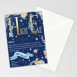 High Fae Stationery Cards