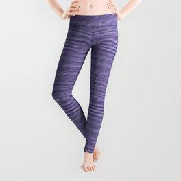 Violet Tulip Wood Grain Texture Color Accent Leggings