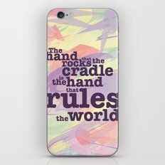 The Hand that Rocks the Cradle... iPhone & iPod Skin