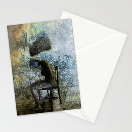 vintage instant print type 55 black and white Stationery Cards