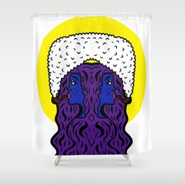 Gemini Goddesses Shower Curtain