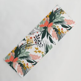 Botanical brush strokes I Yoga Mat