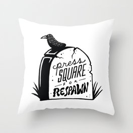 Press Square for Respawn Throw Pillow