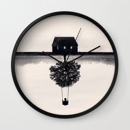 Drift Away (b&w) Wall Clock