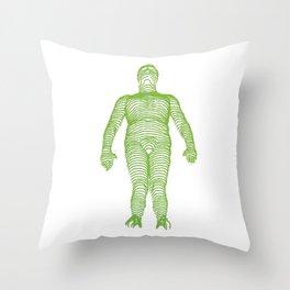 GREEN LINE Throw Pillow