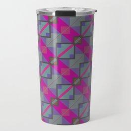 Grey Purple Aztec Pattern Travel Mug