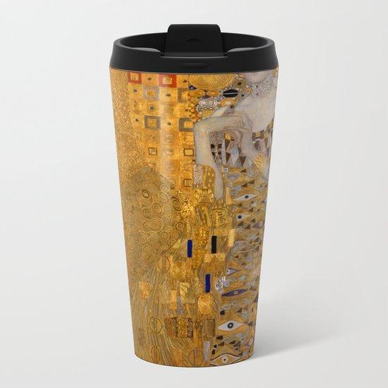 Adele Bloch-Bauer I by Gustav Klimt Metal Travel Mug