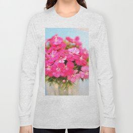 A Pink Kiss - Glowing Flowers #1 #decor #art #society6 Long Sleeve T-shirt