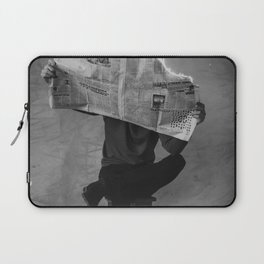 News on Fire (Baclk and White) Laptop Sleeve