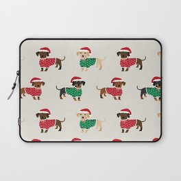 Dachshund christmas sweater holiday santa hat doxie dachsie lovers Laptop Sleeve