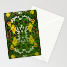 Summer Flowers Reflect Stationery Cards