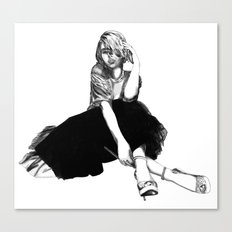 Scarlett Johansson (hand-drawn) Canvas Print