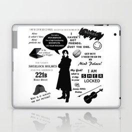 Sherlock Holmes Quotes Laptop & iPad Skin