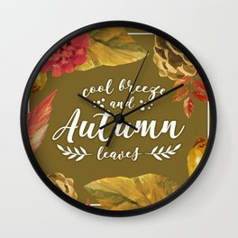 Cool Breeze and Autumn Leaves Wall Clock