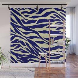 blue zebra Wall Mural