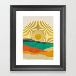 hope sun Framed Art Print