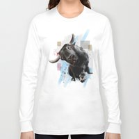 bull Long Sleeve T-shirts featuring bull by e12art