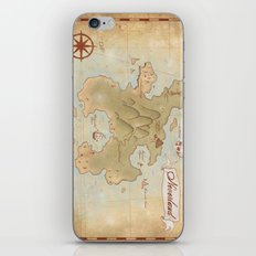 Map of Neverland iPhone & iPod Skin
