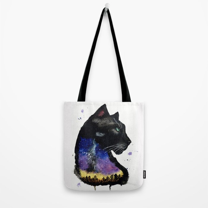 Galaxy Panther Tote Bag