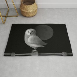 Barn Owl Full Moon Rug