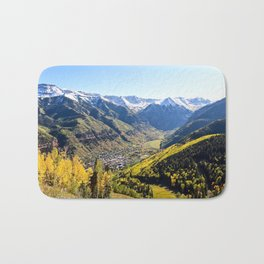 Overlooking Telluride in the Fall Bath Mat