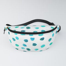 Minimal Abstract Dots Blue Fanny Pack