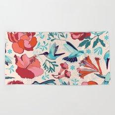 Hummingbird summerdance Beach Towel